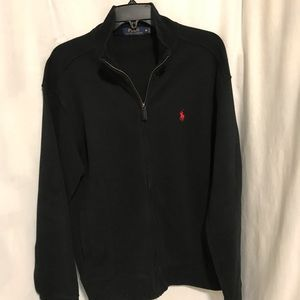 Medium Zip down Black Polo sweater!